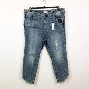 William Rast 24W Stonewash Button Fly Jeans 2R35